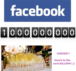 Facebook reaches one Billion active users image