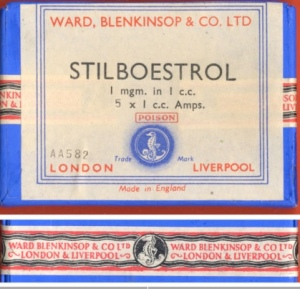 Poison ! Stilboestrol 1 mg Box - Made in England UK