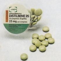 Distilbène 25 mg DES Drug Bottle manufactured by Ucepha on Flickr