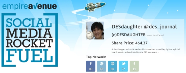 Join now (e)DESdaughter 3,850+ shareholders on Empire Avenue and start investing today! it's FUN & FREE!