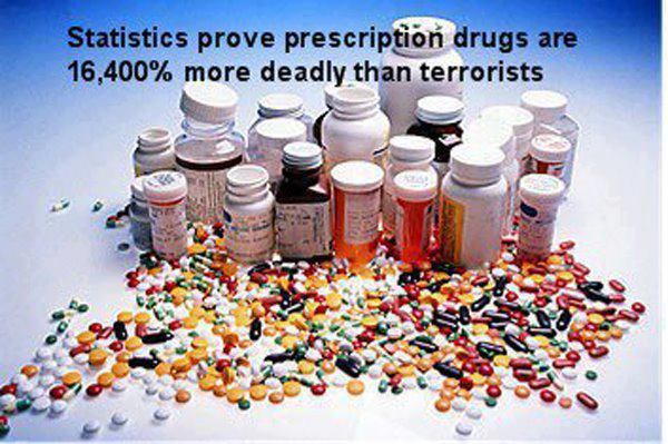 Statistics prove that Prescription Drugs are 16,400% more deadly than Terrorists...