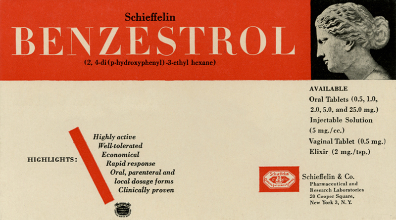 Benzestrol manufactured by Schieffelin & Co. Pharmaceutical New-York on Flickr