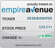 #EAv (e)DESdaughter Share Price has surpassed 500e, and a Place in History on Empire Avenue!