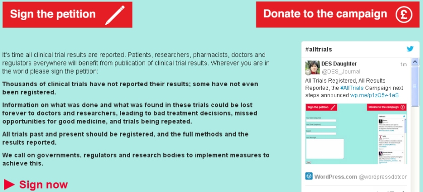 All Trials Registered, All Results Reported, the #AllTrials Campaign next steps announced