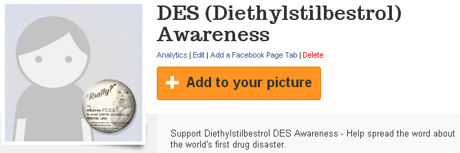 DES Diethylstilbestrol Awareness PicBadge