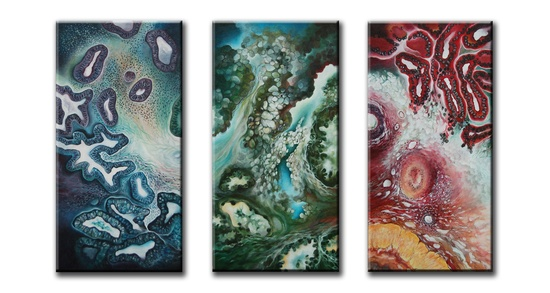 All Three Female by Artist Penny Oliver, Diagnosis Art @diagnosisart on Pinterest