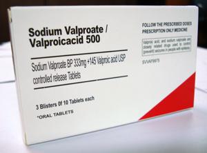 Le cerveau des fœtus atteint par un antiépileptique, le Valproate