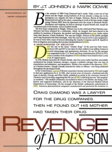 The story of a lawyer who used to defend DES-makers until he discovered his was a DES son