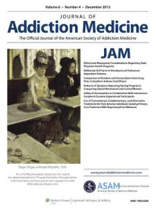 Reasons for Misuse of Prescription Medication Among Physicians Undergoing Monitoring by a Physician Health Program