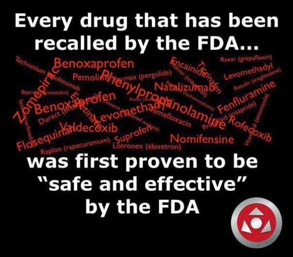 Every Drug that has been recalled by the FDA… was first proven to be safe and effective by the FDA…