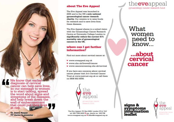 Cervical Cancer Information Leaflet by @TheEveAppeal on Flickr