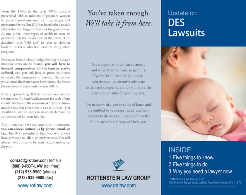 DES Lawsuits Informational Brochure