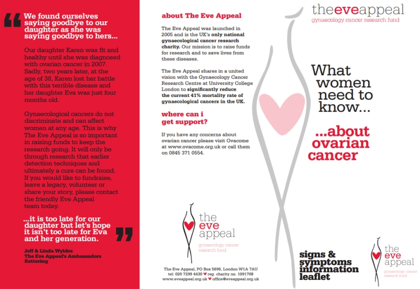 Ovarian Cancer Information Leaflet, by @TheEveAppealon Flickr