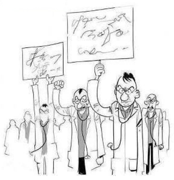 Comics image of Doctors' strike
