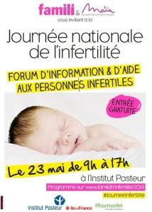 poster de la 1 ère Journée de l'Infertilité à l'Institut Pasteur