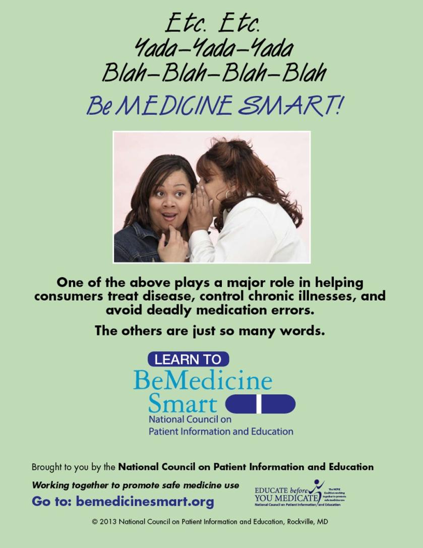 be medicine smart poster