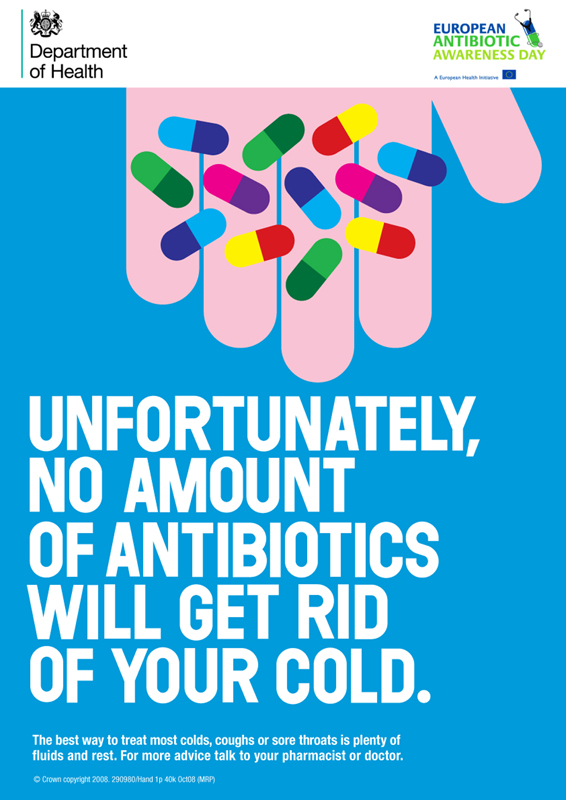 poster of Antibiotics will Not get rid of your Cold