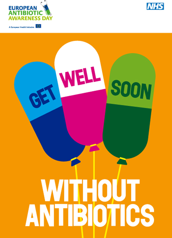 poster of Get well soon without antibiotics