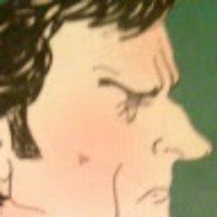 Harold Evans cartoon image