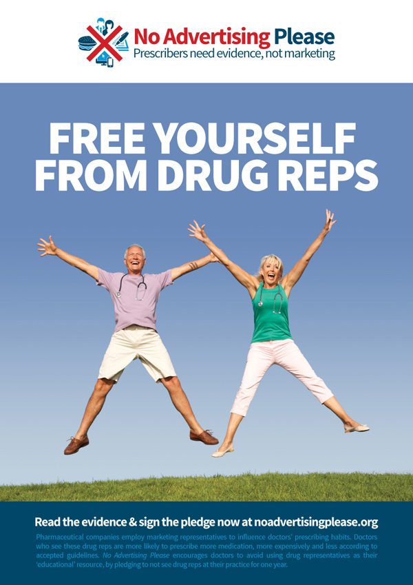 Free Yourself from drug reps poster