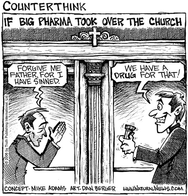 big_pharma_church cartoon