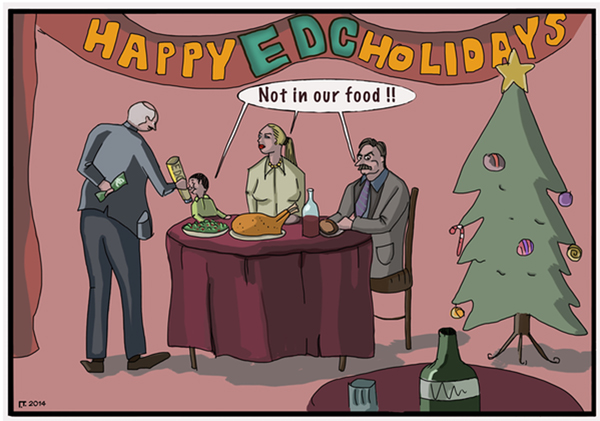 Happy EDC holidays cartoon