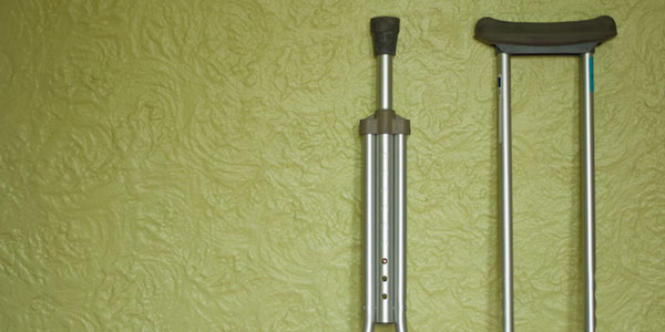 image of crutches