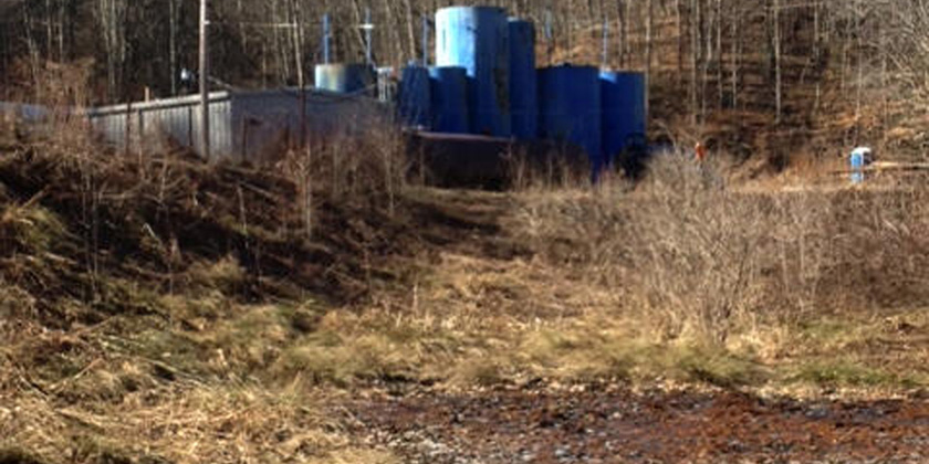 High levels of EDCs in the surface water near a fracking wastewater site