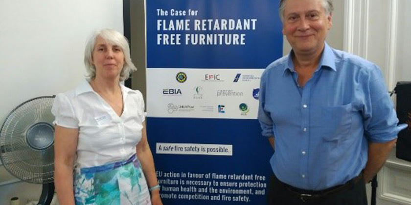 Concerns about the implications from the presence of harmful flame retardants chemicals in furnitureproducts