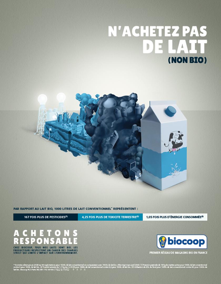 Produits laitiers : n'achetez pas de lait (nonbio)