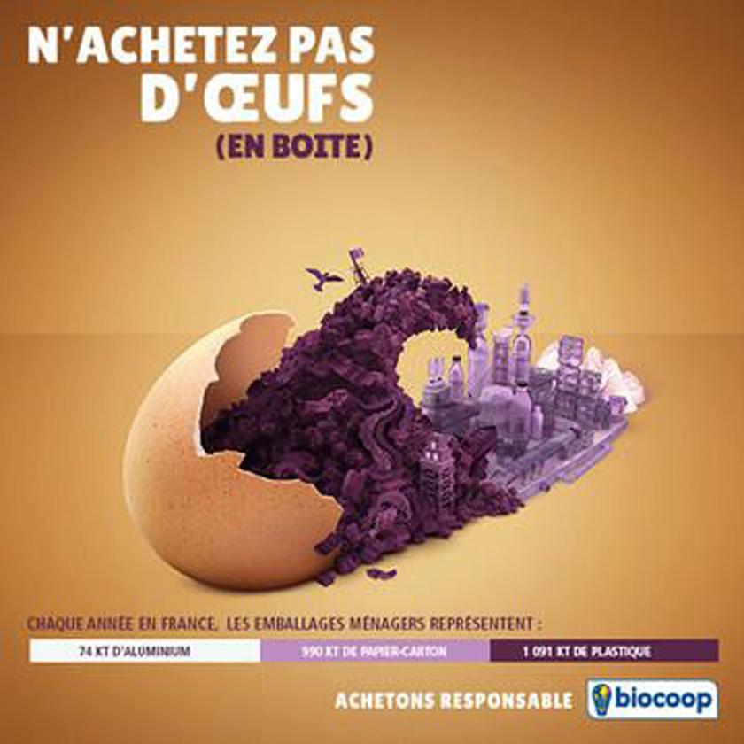 Produits alimentaires emballés : n'achetez pas d'oeufs (enboite)
