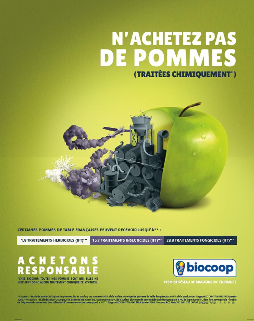 Des fruits trop beaux : n'achetez pas de pommes (traitéeschimiquement)