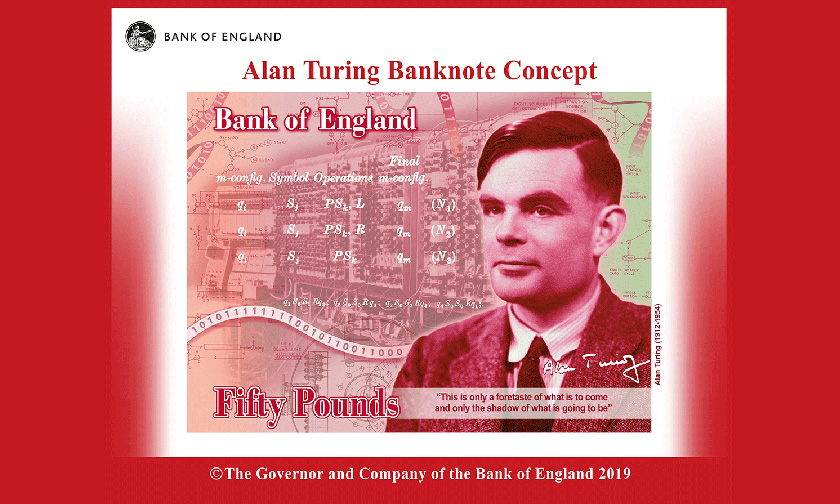 Alan Turing to be the face on the new £50 banknote